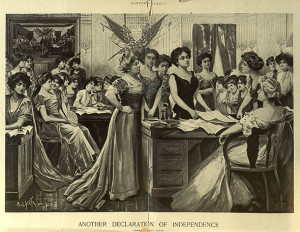 """Another Declaration of Independence,"" Harper's Weekly, 1910; a"